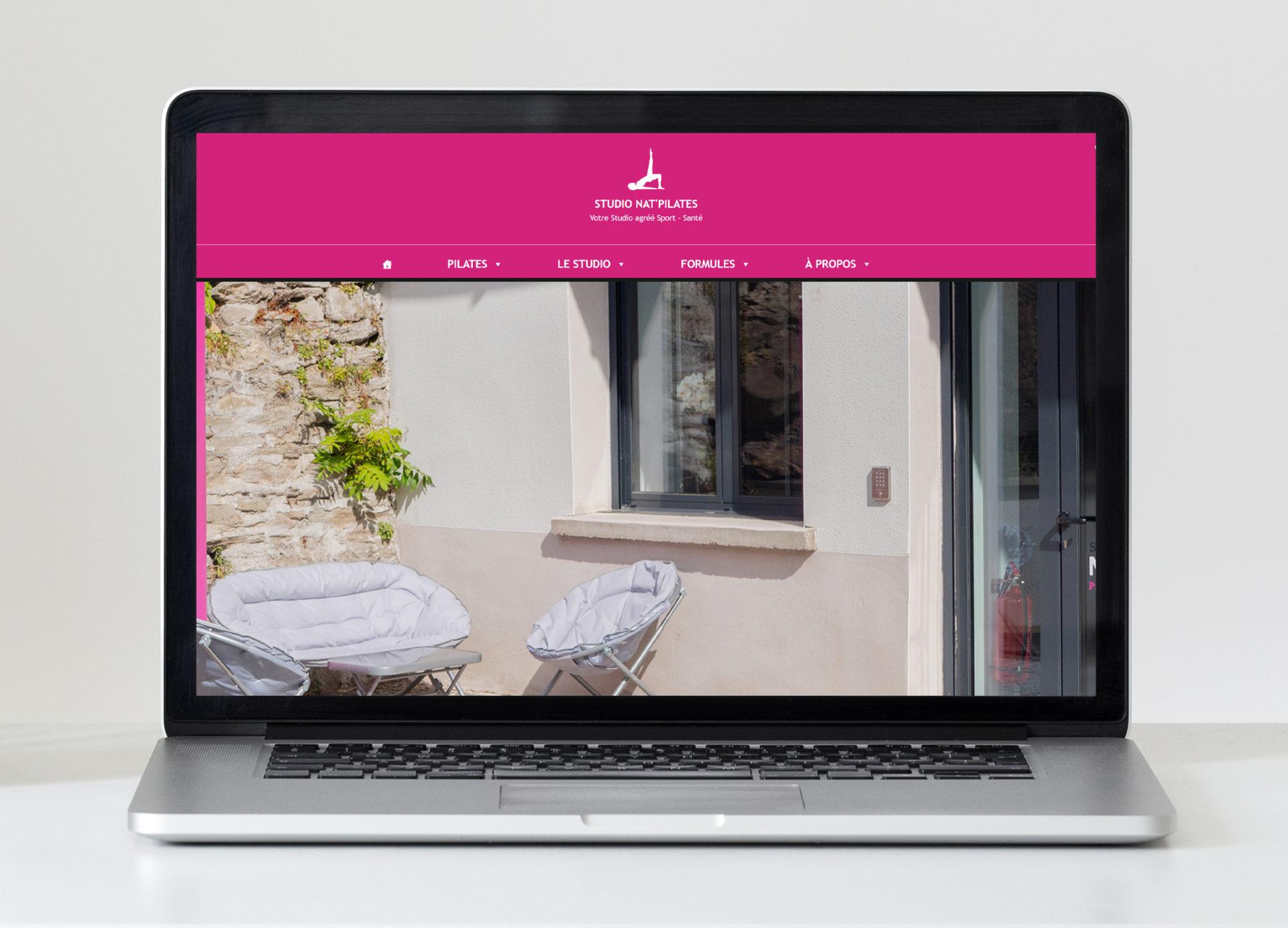 Visuel de la page d'accueil du site internet Nat'Pilates